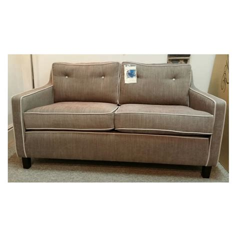 davy small contemporary 2 seater sofa in j brown senna fabric