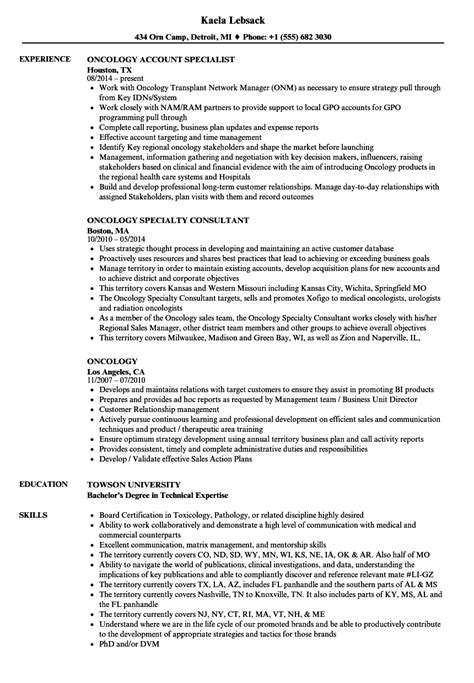 Oncology Resume by Oncology Resume Sles Velvet