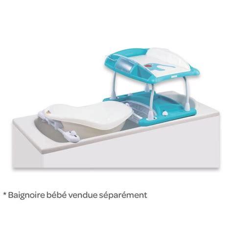 Baignoire Bebe Confort by Bebe Confort Table 224 Langer Duo Bleu Bleu Et Blanc Achat