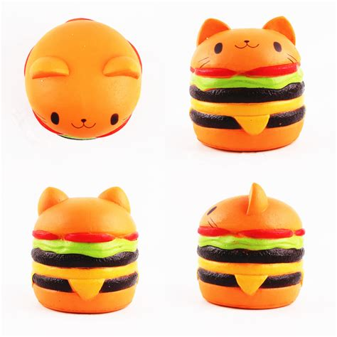Animal Burger Squishy Rising With Packaging squishys cat burger rising soft animal collection
