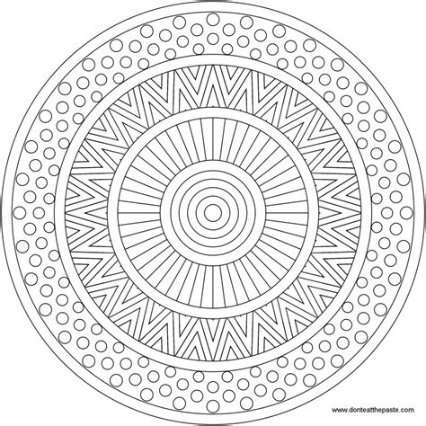 don t eat the paste mixed patterns mandala to color