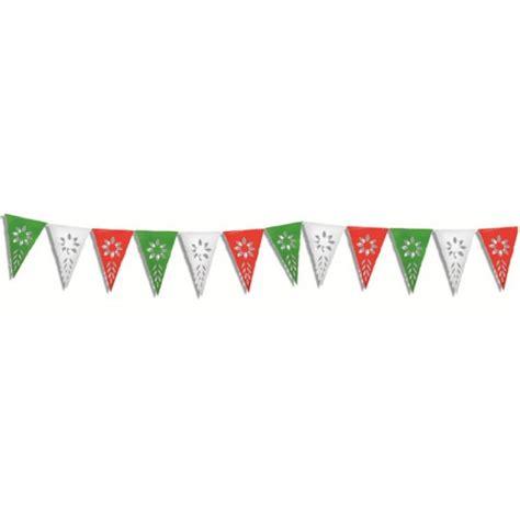 cadenas de papel tricolor banderin de 8 metros tricolor picado