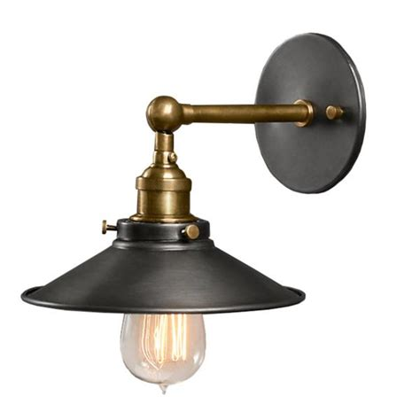 Black Sconces Dorothy 1 Light Black Edison Wall Sconce