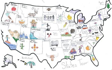 usa tour map usa maps osher map library
