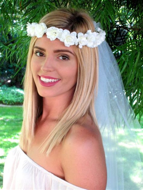 Mahkota Tiara Crown Bridal Shower Small With Veil Without Veil Sc0017 ivory bachelorette veil bridal shower veil by