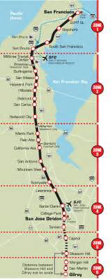 San Francisco Caltrain Map transportation guide caltrain offmetro ca