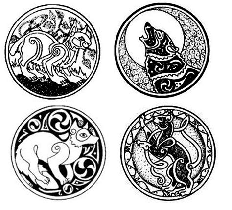 celtic animal tattoos designs celtic cat fox wolf celtic wolf foxes