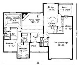 Small Ranch House Floor Plans by Inspiring Simple Ranch House Plans 7 Small Ranch House
