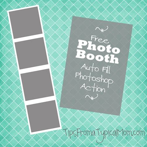 Free Photo Booth Frame Template Auto Fill Photoshop Action Tips From A Typical Mom Photo Booth Templates Free