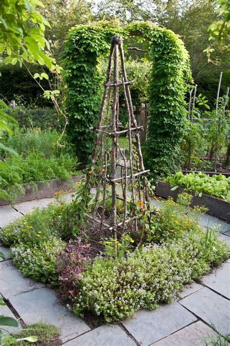 trellis in vegetable garden prosperous potager