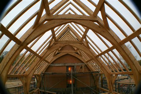 Vaulted Ceiling Open Floor Plans by Arch Brace Frame Chaplin Oak Timber Framing