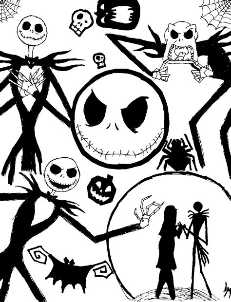 coloring page free printable free printable nightmare before christmas coloring pages