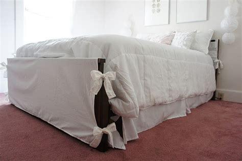 diy headboard cover lilikoi vanilla guest room footboard slipcover