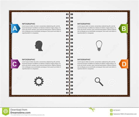 notebook design template infographics design template open notebook with colorful
