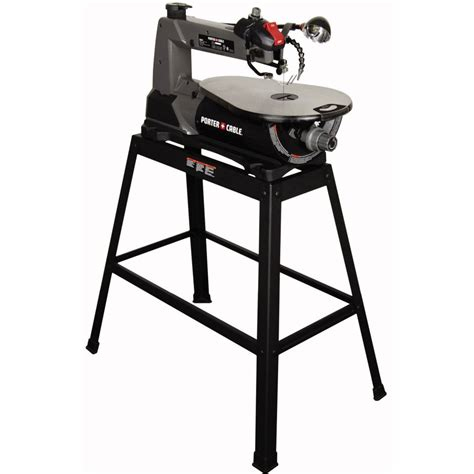 porter cable 16 in variable speed scroll saw with stand