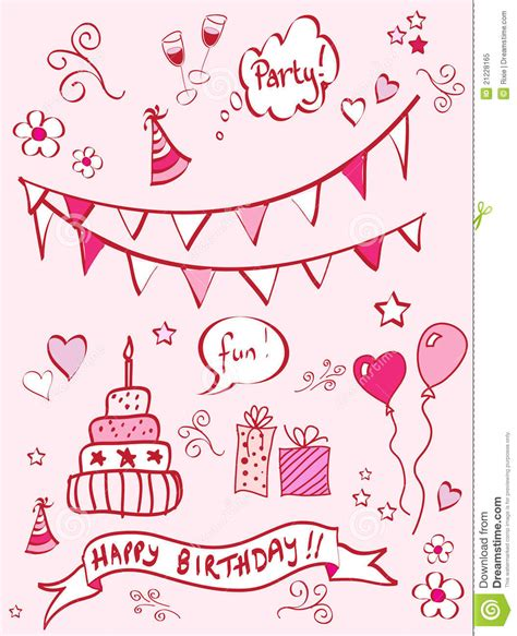 doodle birthday birthday doodles royalty free stock photo image 21228165