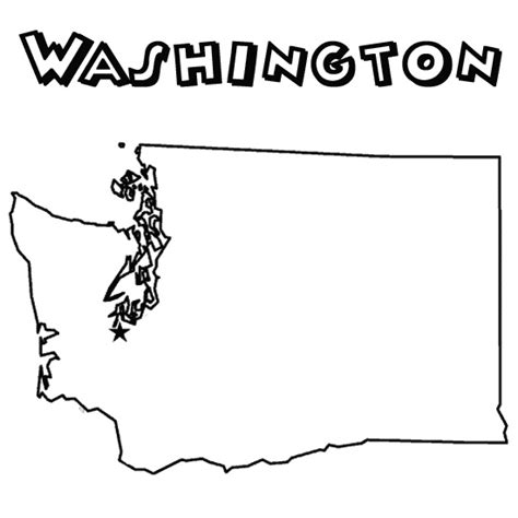 washington state symbols pages coloring pages