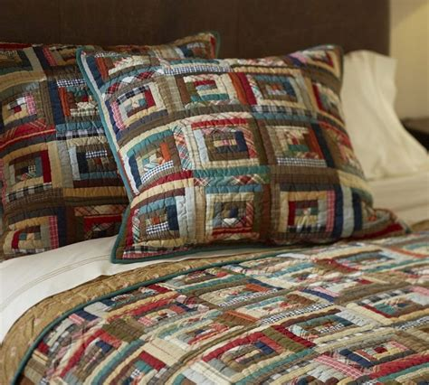 Log Cabin Patchwork Quilt - log cabin quilt patchwork