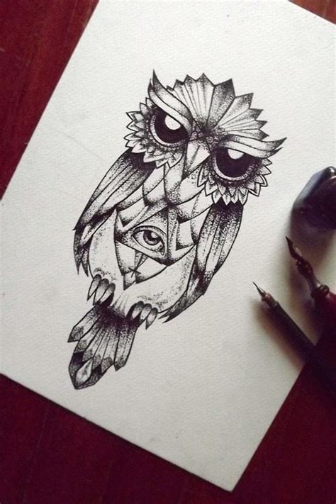 illuminati owl tattoo design evil dotwork owl with illuminati sign on belly tattoo