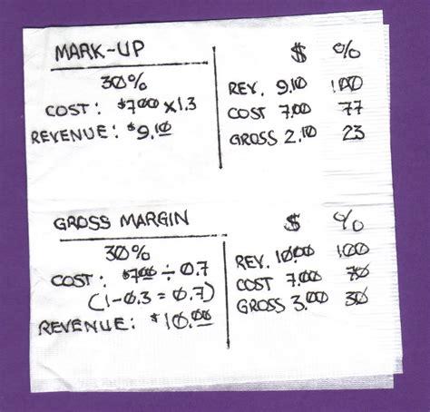 margin vs markup table markup price formula charibas ga