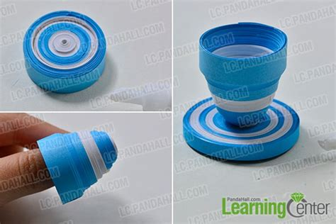 How To Make Paper Flower Pot - how to make a blue quilling paper flower pot and flowers