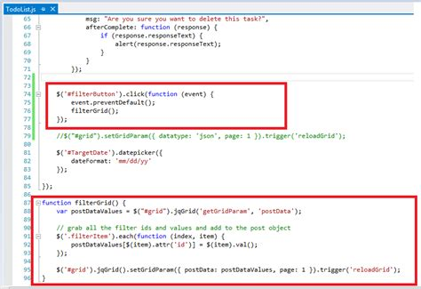 mvc section section 3 jqgrid and mvc demo with custom filters or