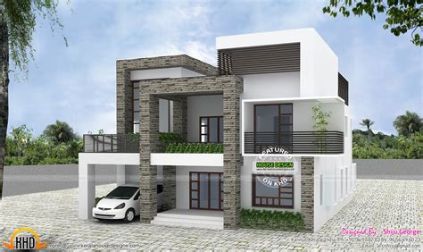 contemporary house by shiju george kerala home design