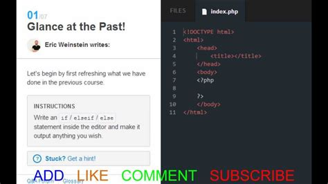 java tutorial like codecademy codecademy php 2013 control flow switch youtube