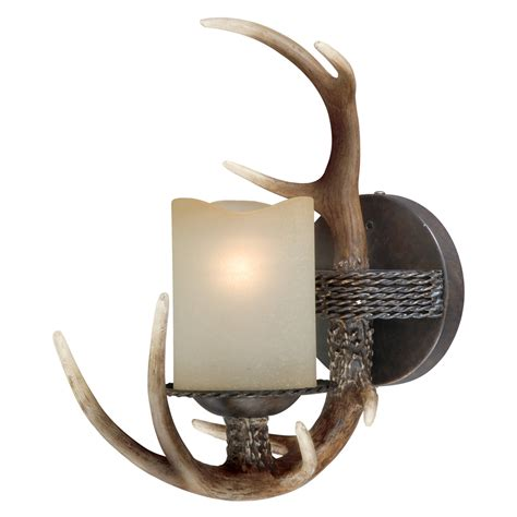 Deer Antler Lamps: Antler Single Wall Lamp Black Forest Decor