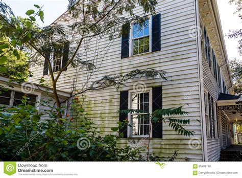 mold on side of house algae on old wood siding home stock photo image 65409150