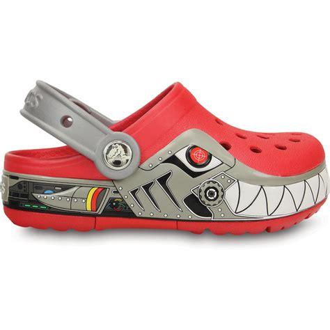 Crocs Led crocs lights robo shark clog silver the comfort of the classic but with led light