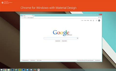 chrome themes material design chrome browser for windows with material design by