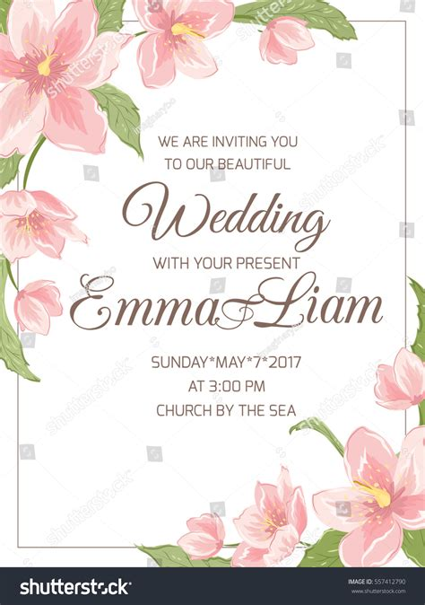 wedding card text template wedding marriage invitation card template rsvp stock