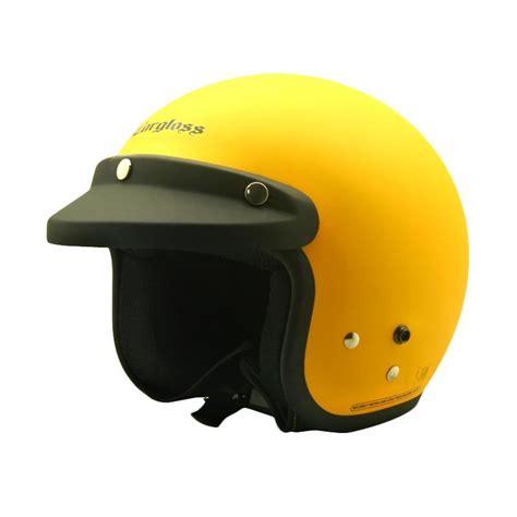 Kancingan Pengait Helm jual cargloss retro helm half excotic yellow doff