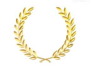 laurel leaf crown template gold laurel wreath medal template psd psdgraphics