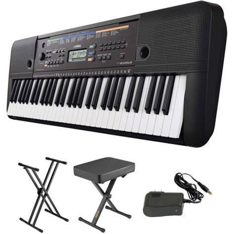portable keyboards bh photo video manual guide yamaha psr e253 portable keyboard kit with stand bench and