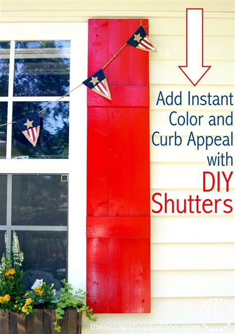 add instant home value remodel your front entryway diy shutters a simple way to add instant curb appeal and