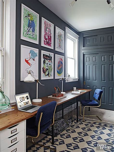 unique paint colors that just work desk and office walls