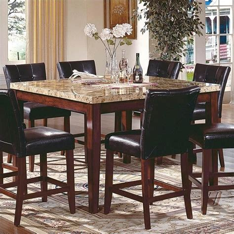 Marble Top Counter Height Dining Table Steve Silver Company Montibello Counter Height Marble Dining Table Mn5454pt