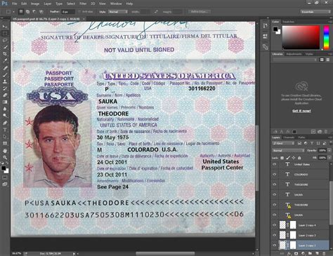 us passport template psd usa passport psd template passport psd