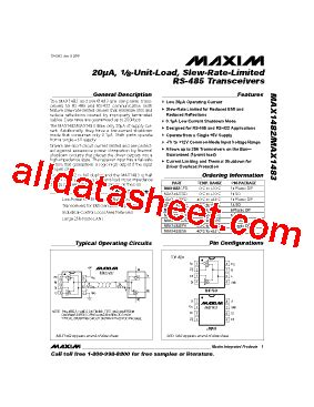 maxim integrated products website max1483 fiche technique pdf maxim integrated products