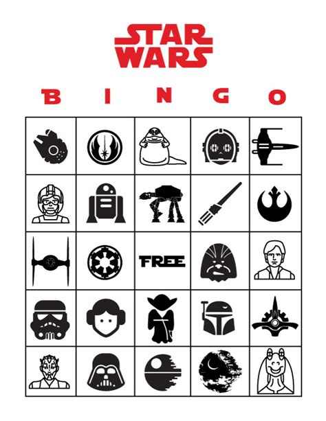 printable lego star wars bingo cards free star wars party printables a no stress way to a