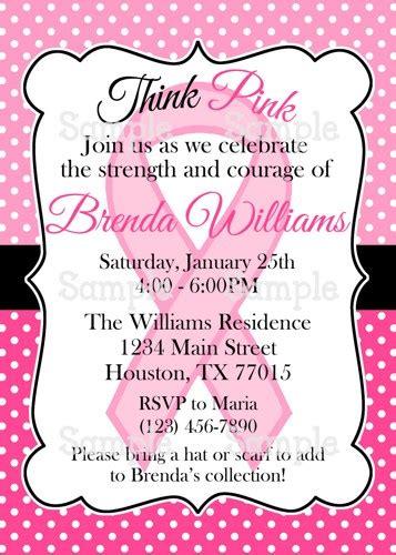 Printable Pink Ribbon Breast Cancer Awareness Party Invitation Ameraznstyle Digital Art On Survivor Invitation Template