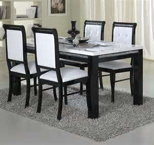 Black And White Dining Room Set by Furniture Dining Room Modern Dining Set With Square