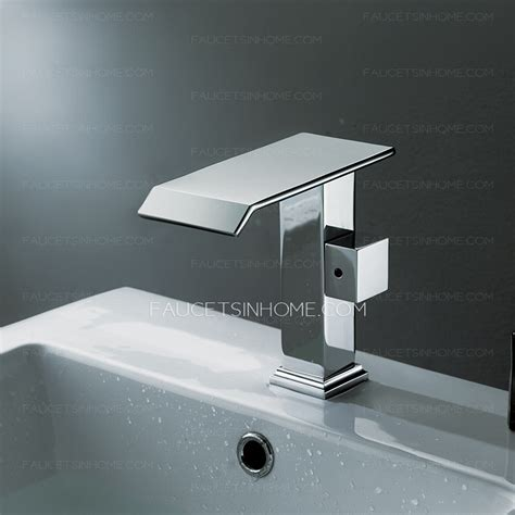 cool bathroom faucets cool square shaped side handle waterfall bathroom faucet