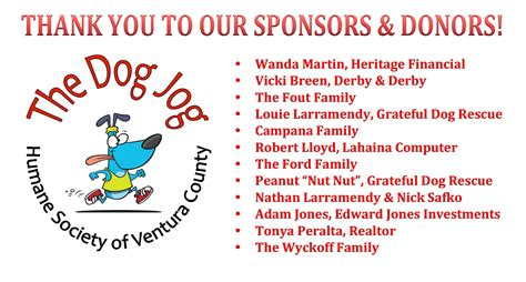 Thank You To Our Advertisers by Thank You To Our Sponsors Donors Humane Society Of