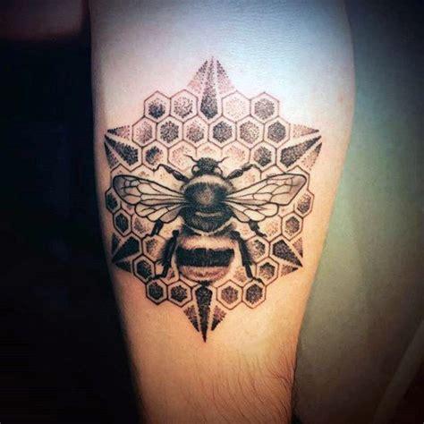 80 honeycomb tattoo designs for men hexagon ink ideas