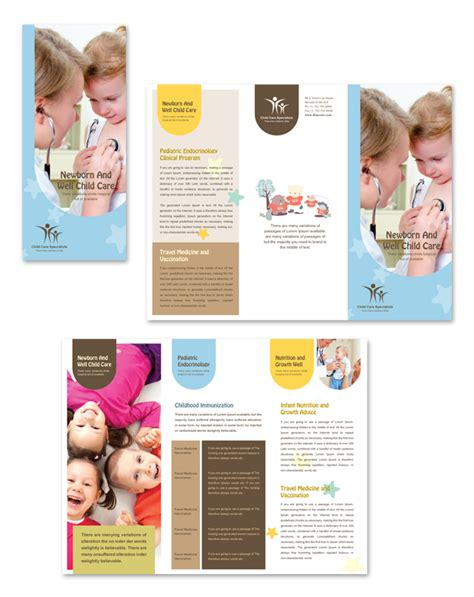 child care brochure templates child care specialists tri fold brochure template