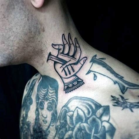 tattoo neck traditional 50 traditional neck tattoos for men old school ink ideas
