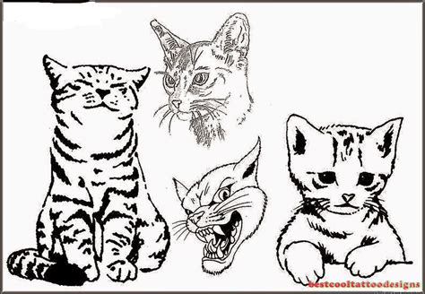 cat tattoo designs flash best cool tattoo designs